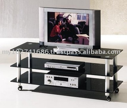 Modern Aluminium Glass TV Cabinet, Living Room TV Rack Stand Simple Design, Glass Stand Table Furniture For Living Room