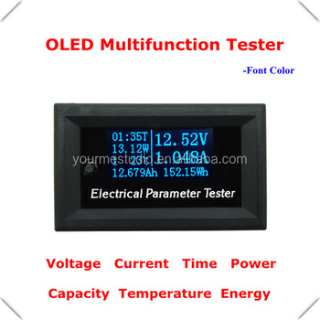 7in1 Voltage Current Time Power OLED Multifunction Tester