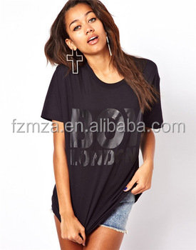 custom t Shirt printing for 100% cotton for women plus size clothing