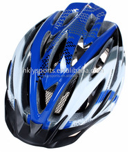 Shengtao Hot Sale ST320 Inmold PC and EPS Material Specialized Blue Bicycle Helmet with Visor