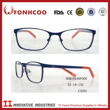 FONHCOO Sample Free Stocked Fashion Model Double Colors Full Metal Glasses Optical Frame