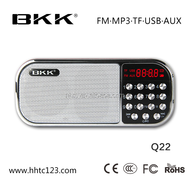 worldwide high demand FM Radio digital speaker with MP 3 (Q 22)