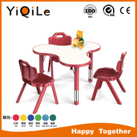 Irregular school kids desk table and chair for classrooms childrens table