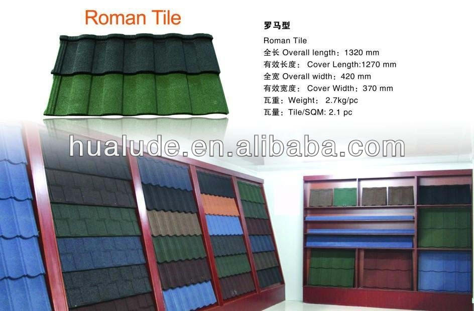 Building Material Stone Coated Roof Tile -Roman Tile