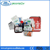 Hot sale ISO FDA CE approved promotional wholesale oem portable EVA adventure outdoors road trip first aid kit bag
