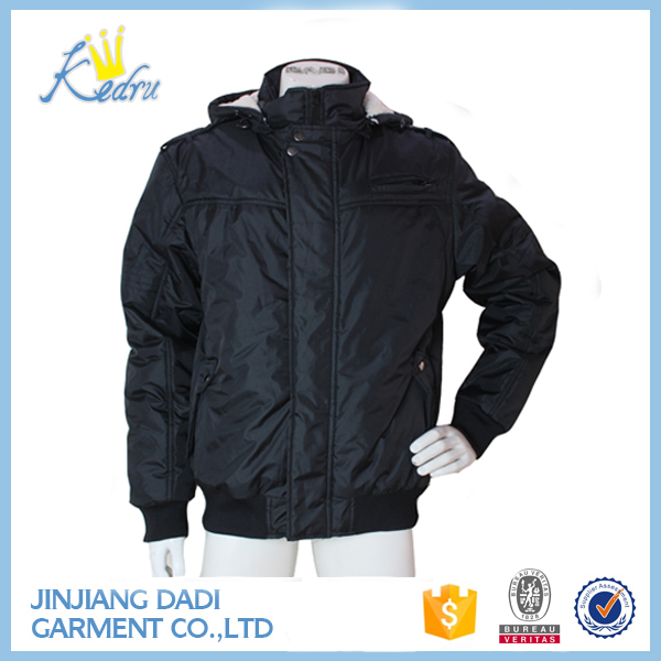 China Closeouts Overstock Men's Black Jacket