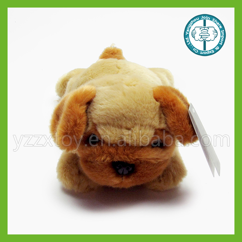 Personalized plush stuffed animal brown dog toy with big ears