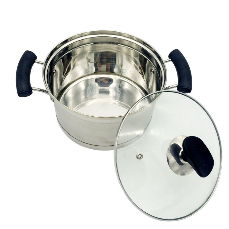 Professional kitchen cookware large cooking pot with cover for Buy kitchen cookware