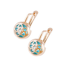 G19 xuping rose gold earring, Costume Jewelry women fashion earring, Gold Plated Female Earring