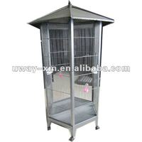 UW-PT-050 High quality large size metal bird cages with six wheels,bird nest for breeding and feeding