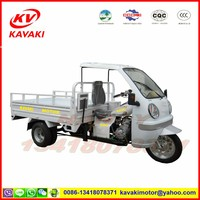 KAVAKI motor sale 250CC zongshen engine 1.3M*2.0m with cabin cargo tricycle /three wheel motorcycle
