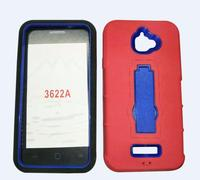 Factory Wholesale New Vertical Silicone+PC Kickstand Case For Coolpad 3622A