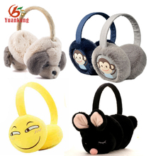 Custom Cheap Soft Plush Flower/Fashion /Yellow Cartoon Emoji/Girls/Sport/Kids Earmuffs Winter Ear Muffs
