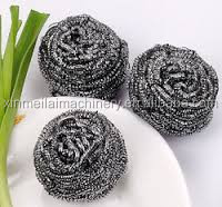 2016 new style steel wire scourer ball, kitchen cleaning sponge