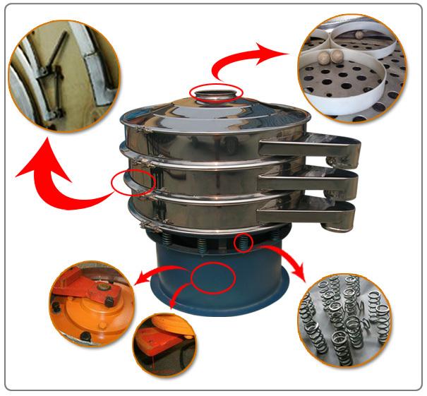 rotary vibrating screen mica salt sieve machine powder sieves flour strainer