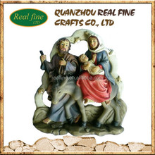 Resin Sainte Family Statue, Holy Family Statue For Wall Decoration