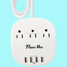 American usa ul etl standard 3-way power socket outlet/travel charger outlet/ power extension cables surge protector