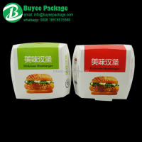Biodegradable Burger Box Paper Packaging Printed