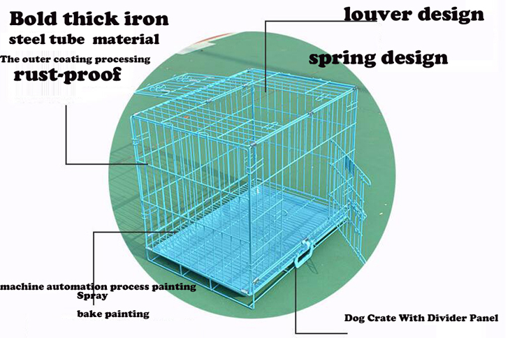 "High quality 2-Door Folding Dog Crate size 36""."
