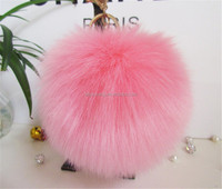 fur pompom accessories fur ball on shoe/hat/hair fake bag pom