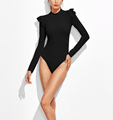 Women's Mock Neck Long Sleeve One Piece Bodysuits