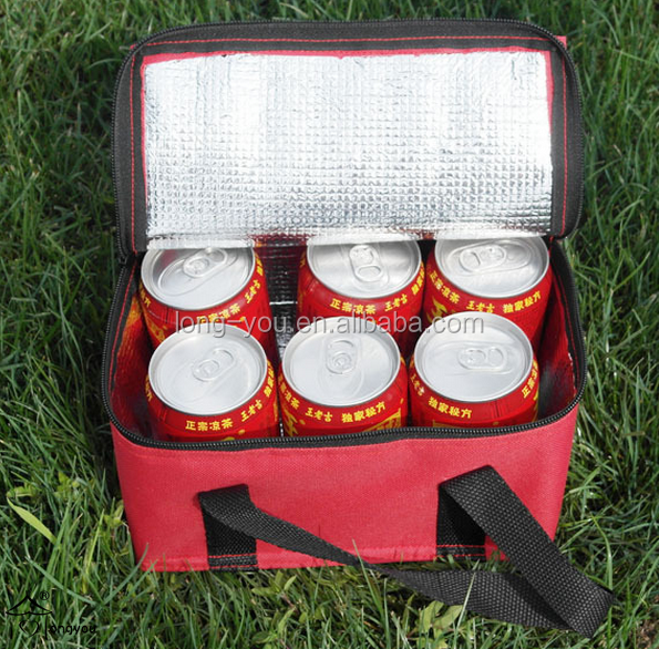 disposable insulated 6 pack beer can bulk cooler bag