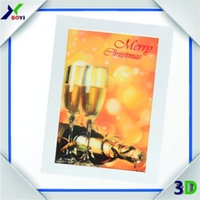 3D Handmade Decoration Greeting Card/3D lenticular greeing card for christmas day gifts/wedding invitations