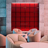 Modern art 3D faux leather tiles embossed effect decorative 3d wall panel for sale