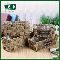 Rectangle shape Flower Basket with Special Wicker Handmade