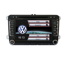 "2 Din 7"" GPS Navi Car DVD CD Radio Player VW Golf Jetta Skoda Passat Seat+Map"