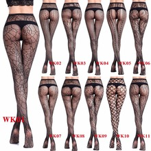 Women Sexy Mesh Thigts Hollow Stretchy fishnet pattern Pantyhose