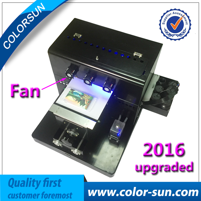 NEW digital A4 mini size LED UV printer for Printing mobile case /Leather/plastic bag case with R330 printhead