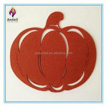 wholesales artificial laser cut felt halloween pumpkin