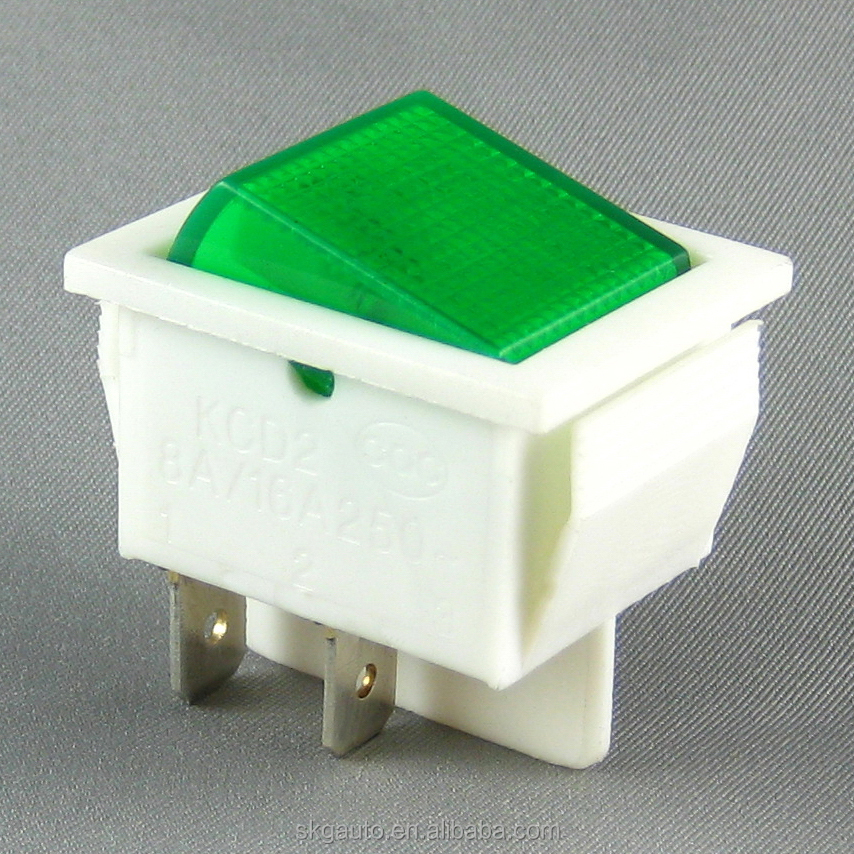 16A 4 pin on off waterproof rocker switch