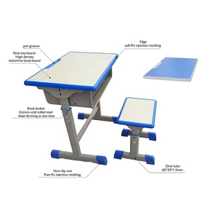 used Factory wholesale high quality student desk with pen groove