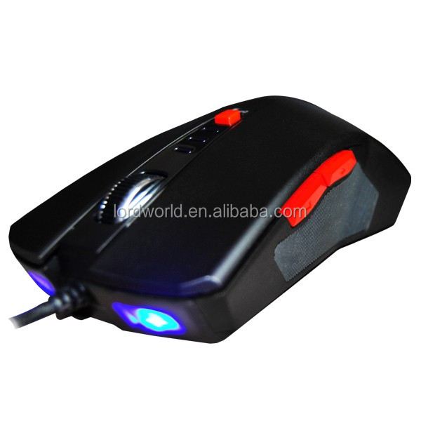 promotional ergonomic designed wired gaming mouse for hp computer mouse