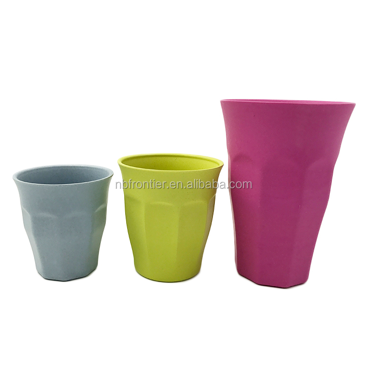 Eco-friendly Organic Material 12oz Bidegradable Bamboo Fiber Drinking Cup