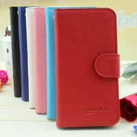 top quality wallet flip phone leather case for blu tank 4.5