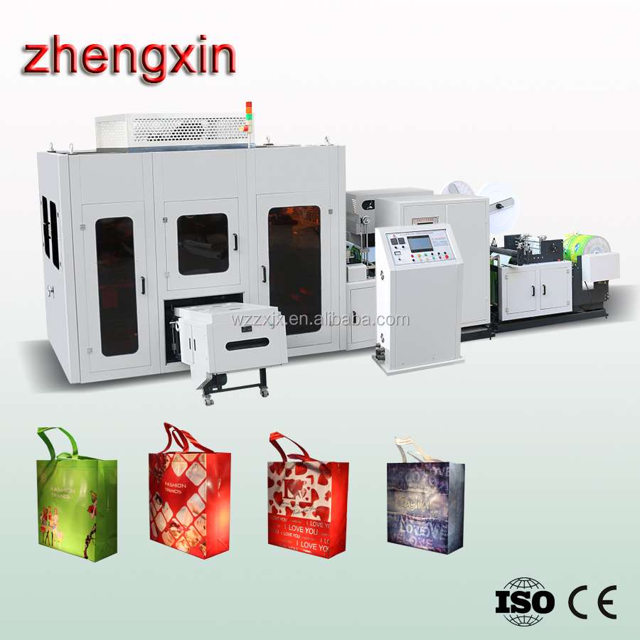 Fully automatic box type nonwoven bag making machine With Online Handle Attach