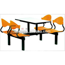 fast food preparation table and chairs