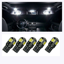 NEW 10pcs/Lot Canbus T10 8smd 5630 5730 LED car Light Canbus NO OBC ERROR T10 W5W 194 SMD Led Bulb