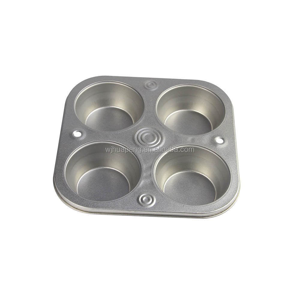 4 Cupcake mould Muffin Pan, non stick cake baking pan