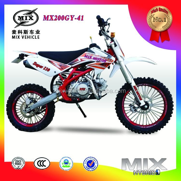 High quality mini moto cross 200cc dirt bike/pit bike racing dirt bike
