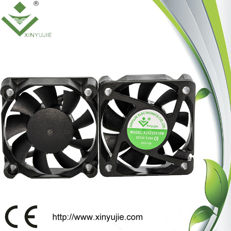 xinyujie 50 x 50 x 10mm 50mm OEM dc fan 12 volts fan waterproof Popular brushless small axial dc fan