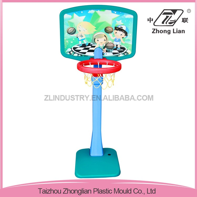 School play indoor stable middle size stands plastic basketball hoop toy