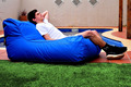 Outdoor and Indoor Theatre / Cinema Room Double seat Bean Bag Chair - Cobalt blue