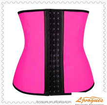 body shape wear waist trainer girdle, Steel bone Colorful 3 hook waist training latex waist training body shaper