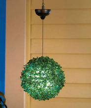 Solar Hanging Topiary Lights Grass Ball Lights