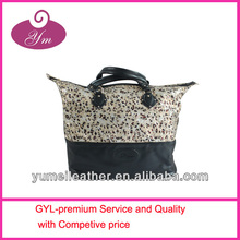 leopard high quality canvas handbags and totes