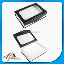 clear window paper jewelry box with magnet closure